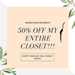 50% OFF MY ENTIRE CLOSET 🌟🌟🌟🌟